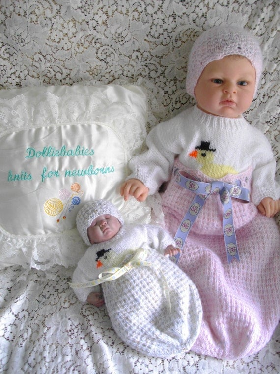 Micro Preemie Knitting Patterns : Knitting PATTERN No.33 Micro Preemie/0-3 Months Chick In An
