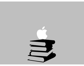 Stacking Books decal: For Laptop, Car etc..