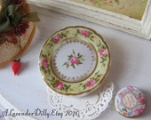 Yellow Cottage Rose Dollhouse Plate