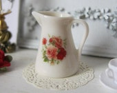 Country Rose Dollhouse Jug