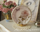 Butterfly Roses Plate for Dollhouse