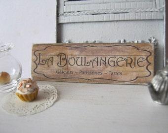 La Boulangerie Sign for Dollhouse