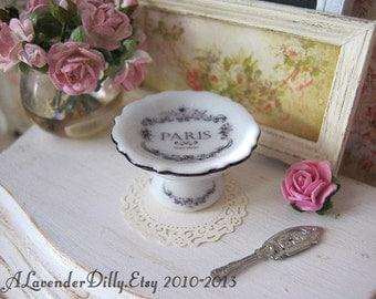 Classic Paris Cake Stand/Bowl for Dollhouse.