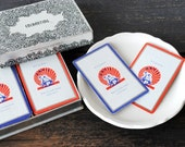 Vintage Industrial Advertising Playing Cards, Pittsburgh PA 1950s US Card Co Double Deck, Original Box
