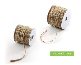 Burlap Jute Bakers Twine Cord String for Craft Gift Weddings and Scrapebooking