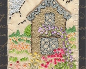 ACEO ATC Embroidered Story Book House