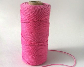 Pink Divine Bakers Twine, solid pink baker's twine, pink twine