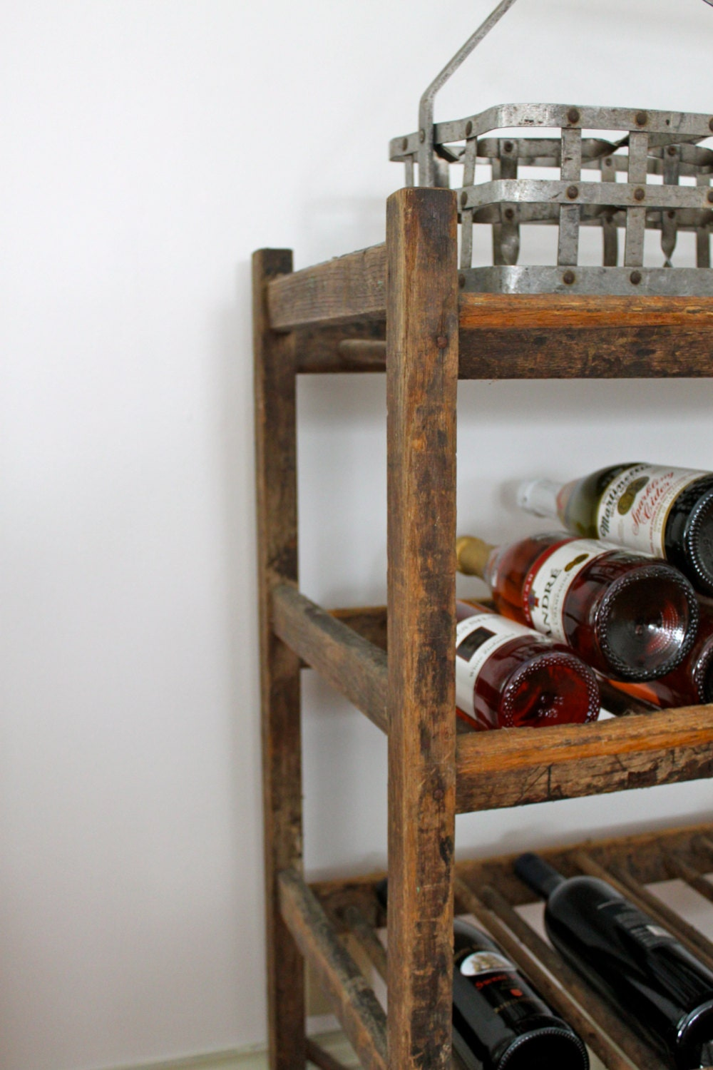 Vintage wine rack free shipping for Old wine rack