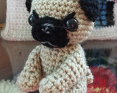 crochet pug amigurumi little toy dog