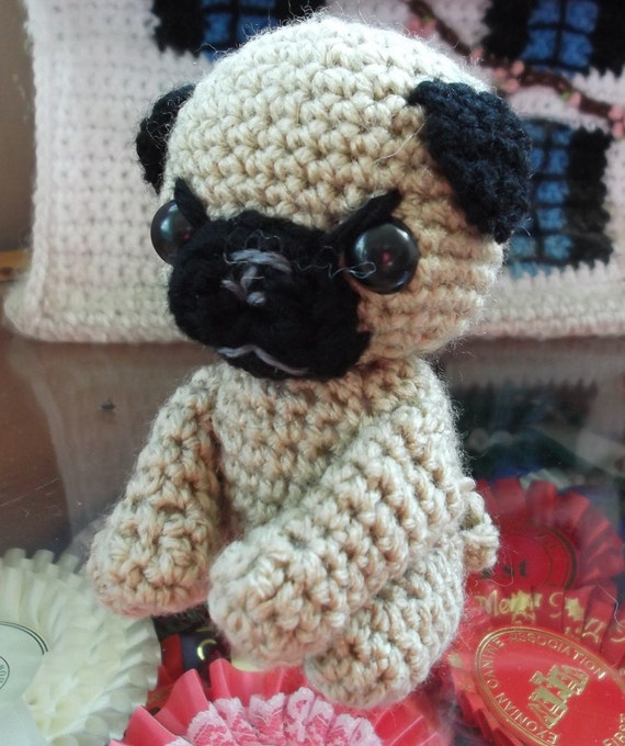 crochet pug amigurumi little toy dog