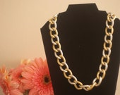 Silver and Gold Chain Link Necklace