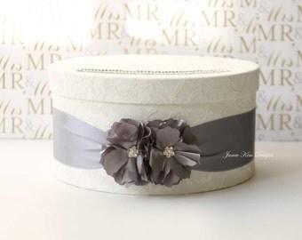 Laced Wedding Card Box, Wishing Well, Custom Card Box