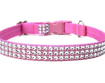 "Rhinestone Dog Collar 5/8"" Small Dog Collar"