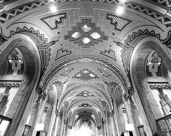 Detroit Photography - Guardian Building - Black and White - Fine Art Print