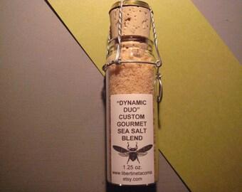 Dynamic Duo Custom Gourmet Sea Salt in a Variety of Packaging