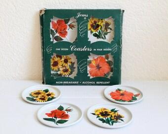 Vintage Floral Coaster Set by Jems
