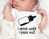 i drink until i pass out cute funny baby one piece or shirt baby gift under 20