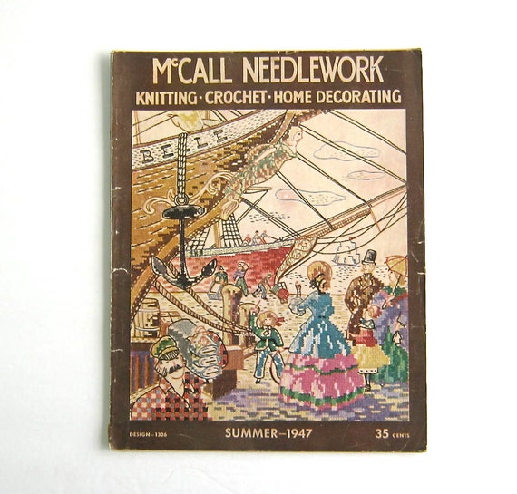 Knitting Quilt Magazine : Vintage mccall needlework magazine by sunshinebooks