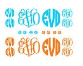 Set of 20 Monogram Decals - Vinyl Wall Art