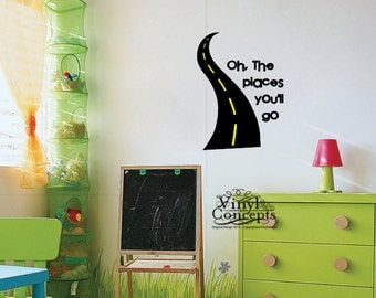 Oh the places youll go - Vinyl Wall Art