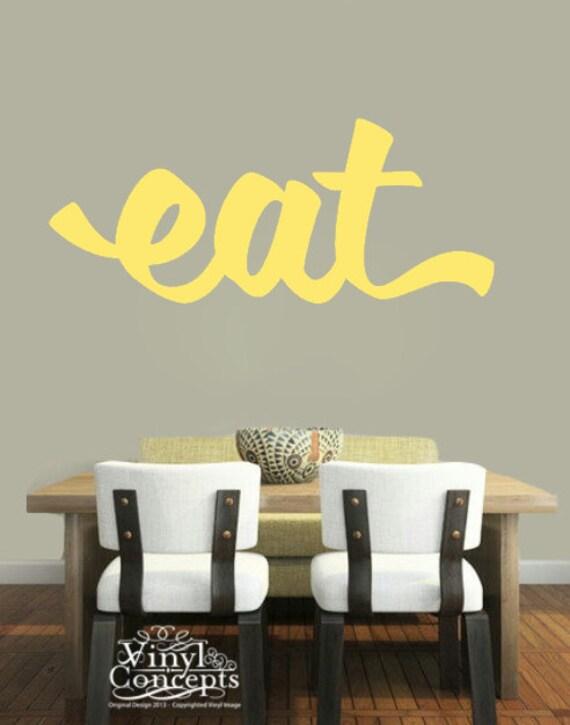 Large Eat Vinyl Wall Art | Etsy