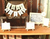 Leave Some Love Guest Book Alternative - Includes Banner, Chalkboard Sign, Easel and 50 Love Notes for Guests to Sign