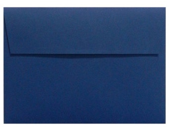 "12 Navy Blue A6 Envelopes - 4 3/4"" x 6 1/2"""