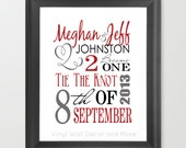 Engagement or Wedding Announcement Subway Art Print