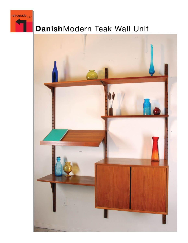 mid century danish modern cado wall unit in teak by poul. Black Bedroom Furniture Sets. Home Design Ideas