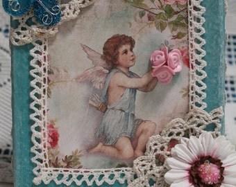 Victorian Shelf Sitter....Victorian Decor..Wedding Gift...Housewarming Gift...Angel Lover...Angel Decor..Mother's Day Gift