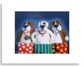 Boxers in Boxers - 11x14 Limited Edition Signed, Fun & Humorous Dog Print