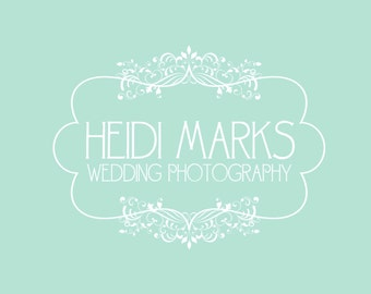Premade Logo and Watermark for Photographers and Small Crafty Boutiques Damask Frame