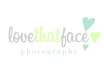 Custom Logo Design Premade Logo and Watermark Two Toned Script with Drawn Hearts