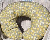 Amy Butler Martini in Mustard and Minky Boppy Cover