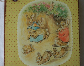 Peter Rabbit and Family wooden book