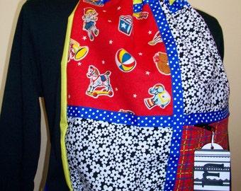 nostalgia toys yellow ripstop nylon drawstring backpack with front zipper pocket