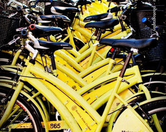Yellow Bicyles, La Bici, Buenos Aires Cycling, Vintage yellow bicycles, Wheels, Tricycles, Lemon Yellow