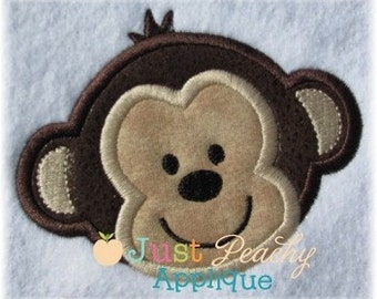 Monkey Head Machine Embroidery Applique Design Buy 2 for 4! Use Coupon Code 50OFF