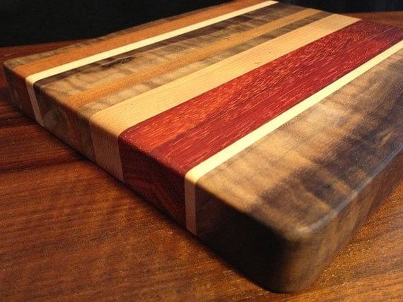 Rustic Wood Boards ~ Rustic wood modern style cheese board medium size thick