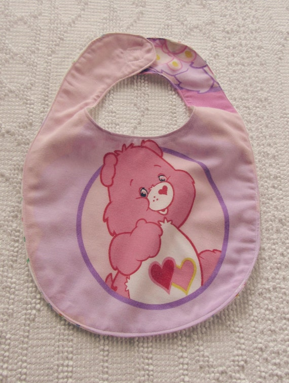 Care Bear Baby BIB Love A Lot flannel soft floral back