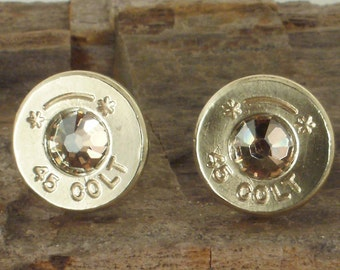 Colt 45 Bullet Earrings - Starline - Various Colors - Ultra Thin