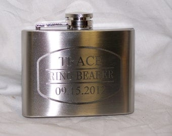 Custom Engraved 4oz Flask