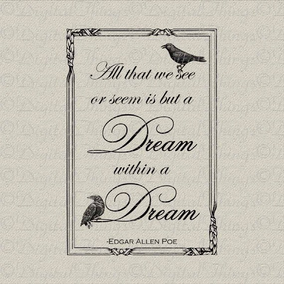 halloween edgar allan poe raven dream within a dream poem
