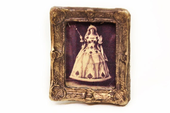 Queen of Spades Photo 1-inch scale Dollhouse Miniature
