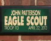 Eagle Scout Customizable Recognition and Commemorative Vintage Style Wall Plaque / Sign Decorative & Custom