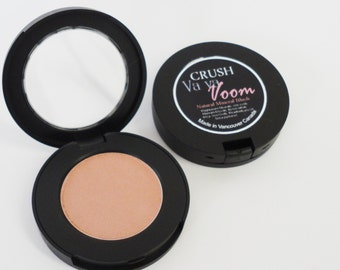 Peach Blush   Mineral Makeup Pressed Coral Blush Vegan Natural Cosmetics Cheeks Toffee Make up light pale VA VA VOOM