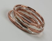 Stack Rings - Sterling Silver Thin Stack Rings - Rose Gold Thin Stack Rings - Stackable Ring Set