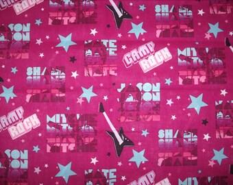 REMNANT-3/8 yard cotton fabric- Disney's Camp Rock