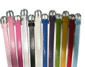 Slide Charm Bracelet Wristband Straps - 8mm Slide Charm Bracelet - Pick 12 - Fit 8mm Slide Charms - Destash