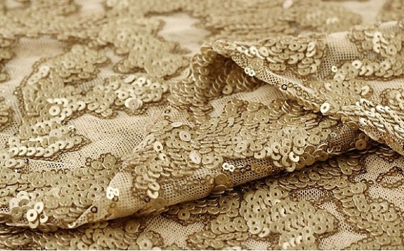 Gold Sequin Fabric Gold Sequin Fabric